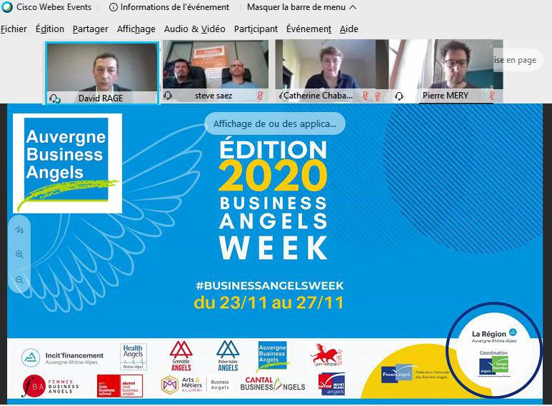 La semaine des Business Angels en Auvergne Rhône Alpes – 23/27 novembre 2020
